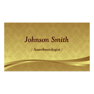 Anesthesiologist - Elegant Gold Damask Double-Sided Standard Business Cards (Pack Of 100)