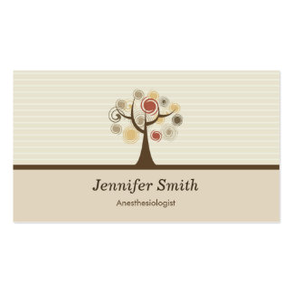 Anesthesiologist Elegant Natural Theme Double-Sided Standard Business Cards (Pack Of 100)