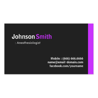Anesthesiologist - Modern Minimal Purple Double-Sided Standard Business Cards (Pack Of 100)