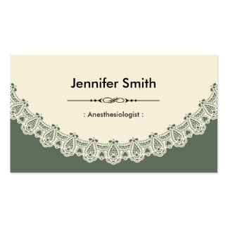 Anesthesiologist - Retro Chic Lace Double-Sided Standard Business Cards (Pack Of 100)
