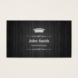Anesthesiologist Royal Black Wood Business Card