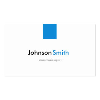 Anesthesiologist - Simple Aqua Blue Double-Sided Standard Business Cards (Pack Of 100)