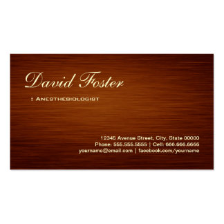 Anesthesiologist - Wood Grain Look Double-Sided Standard Business Cards (Pack Of 100)