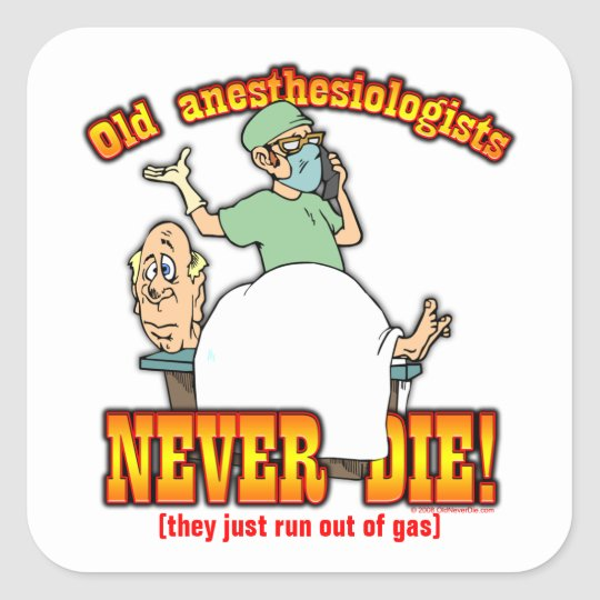 Anesthesiologists Square Sticker