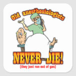 Anesthesiologists Square Stickers
