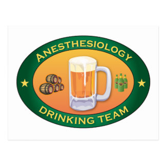 Anesthesiology Drinking Team Postcard