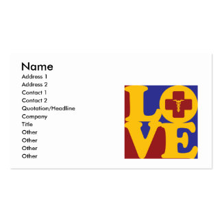 Anesthesiology Love Double-Sided Standard Business Cards (Pack Of 100)