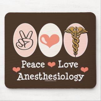 Anesthesiology Mousepad del amor de la paz