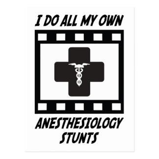 Anesthesiology Stunts Postcard