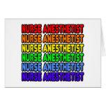 Anesthetist de la enfermera del arco iris tarjeta de felicitación
