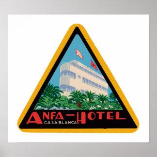 Anfa Hotel Casablanca Print