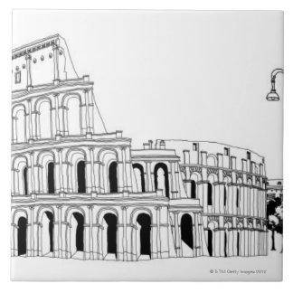 Anfiteatro arruinado azulejos ceramicos