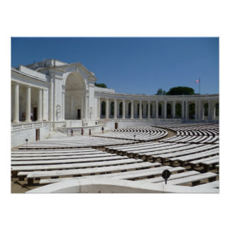 Anfiteatro del cementerio de Arlington Poster