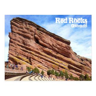 Anfiteatro rojo de la roca postales