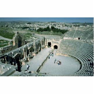 Anfiteatro romano con la plaza oval detrás, Jarash Esculturas Fotograficas