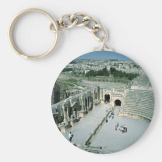 Anfiteatro romano con la plaza oval detrás Jarash Llaveros Personalizados