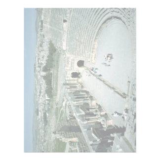 Anfiteatro romano con la plaza oval detrás, Jarash Plantilla De Membrete