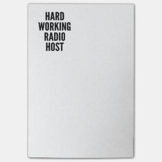 Anfitrión de radio de trabajo duro nota post-it®