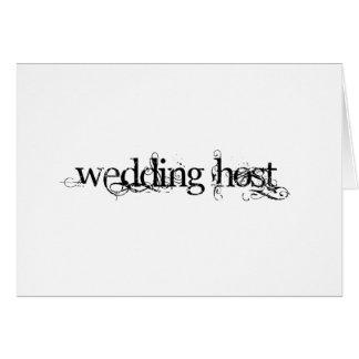 Anfitrión del boda tarjeta de felicitación