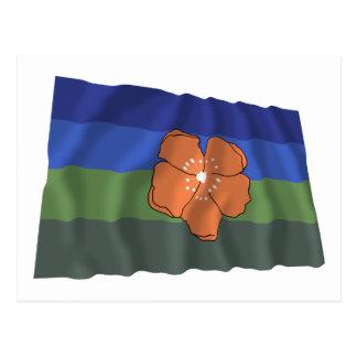 Angaur Waving Flag Postcard