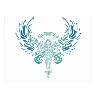 Ange azul tarjetas postales
