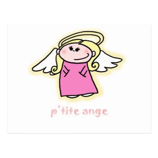 Ange menudo (poco ángel en francés) tarjeta postal