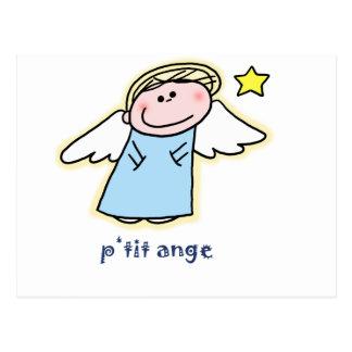 Ange pequeno (poco ángel en francés) postal