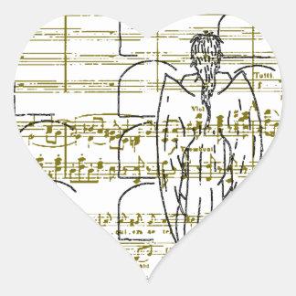 Ange Requieml Pegatina En Forma De Corazón