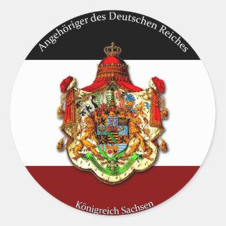 Angehöriger des Deutschen Reiches Classic Round Sticker
