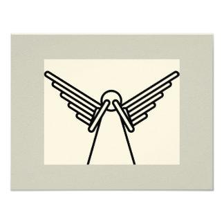 """angel1 invitación 4.25"""" x 5.5"""""""