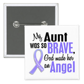 Angel 1 Aunt Stomach Cancer 2 Inch Square Button
