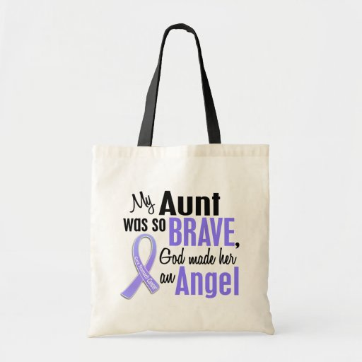 Angel 1 Aunt Stomach Cancer Budget Tote Bag