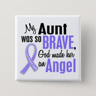 Angel 1 Aunt Stomach Cancer Pinback Button