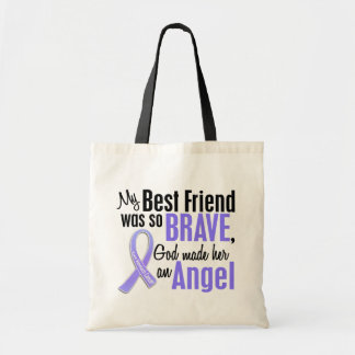 Angel 1 Best Friend (Female) Stomach Cancer Budget Tote Bag