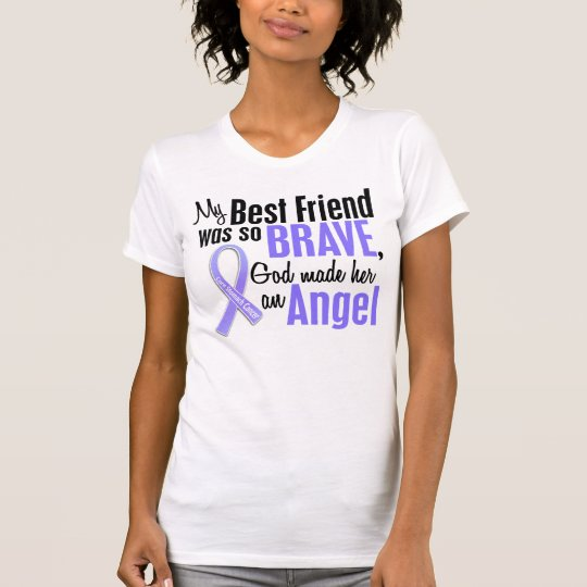 Angel 1 Best Friend (Female) Stomach Cancer T-Shirt
