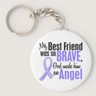 Angel 1 Best Friend Stomach Cancer Keychain