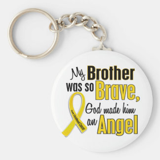 ÁNGEL 1 Brother del cáncer de la niñez Llavero Redondo Tipo Pin