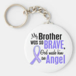 Angel 1 Brother Esophageal Cancer Basic Round Button Keychain