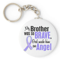 Angel 1 Brother Esophageal Cancer Keychain