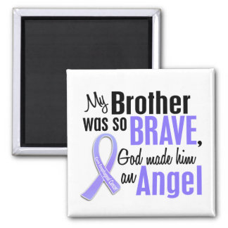 Angel 1 Brother Esophageal Cancer 2 Inch Square Magnet