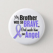 Angel 1 Brother Esophageal Cancer Pinback Button