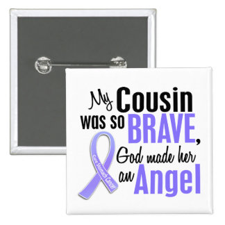 Angel 1 Cousin (Female) Stomach Cancer Pinback Buttons