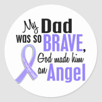 Angel 1 Dad Esophageal Cancer Classic Round Sticker