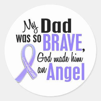 Angel 1 Dad Esophageal Cancer Classic Round Sticker