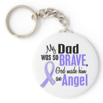 Angel 1 Dad Esophageal Cancer Keychain