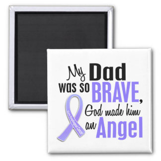 Angel 1 Dad Esophageal Cancer 2 Inch Square Magnet