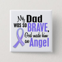Angel 1 Dad Esophageal Cancer Pinback Button