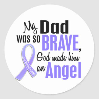 Angel 1 Dad Stomach Cancer Classic Round Sticker
