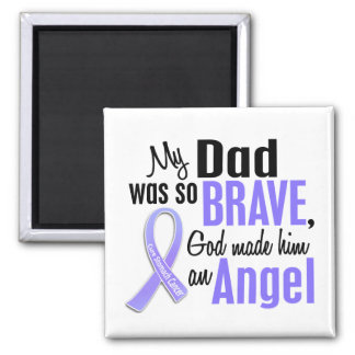Angel 1 Dad Stomach Cancer 2 Inch Square Magnet