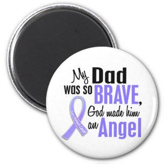 Angel 1 Dad Stomach Cancer 2 Inch Round Magnet